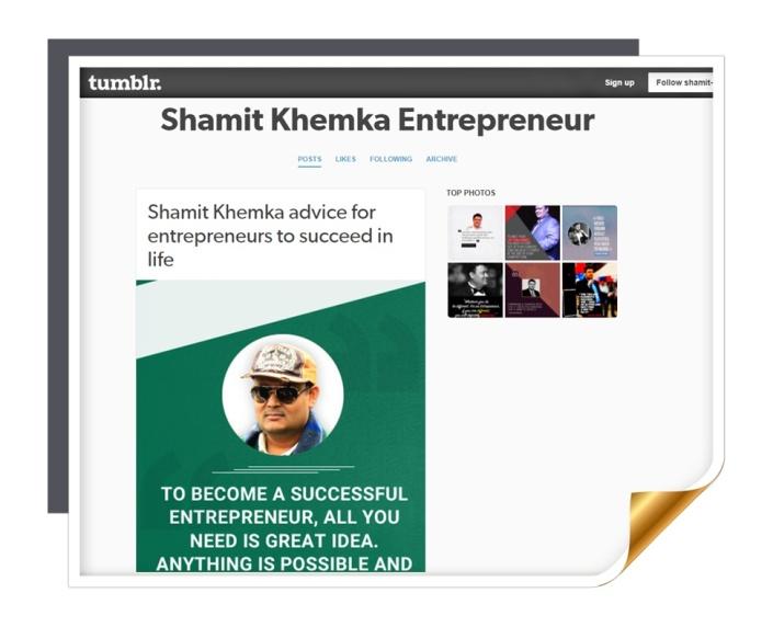 shamit khemka entrepreneur.tumblr